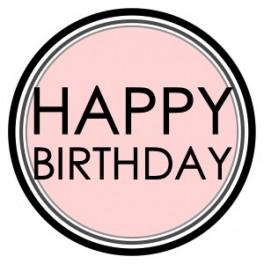 """Aufkleber - """"Happy Birthday Rosa"""""""