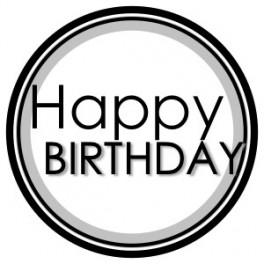 "Aufkleber - ""Happy Birthday Black"""