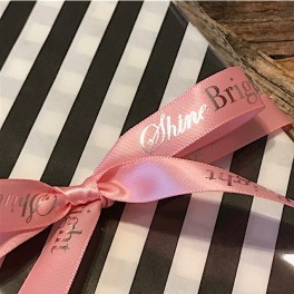 "Light Pink Satin Ribbon ""ShineBright"""