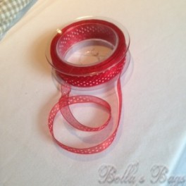 Red Polka Organza Ribbon