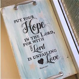 "Serviertablett ""Hope"""
