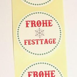 "Aufkleber - ""Frohe Festtage"" Grün"