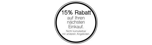 Rabatt- Kleber